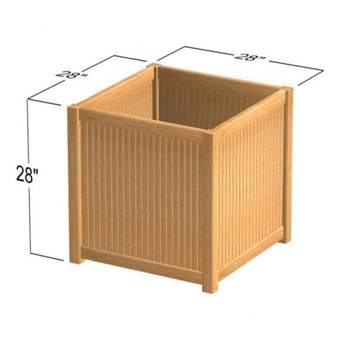 teak planter boxes for decks