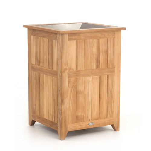 wooden trash bins