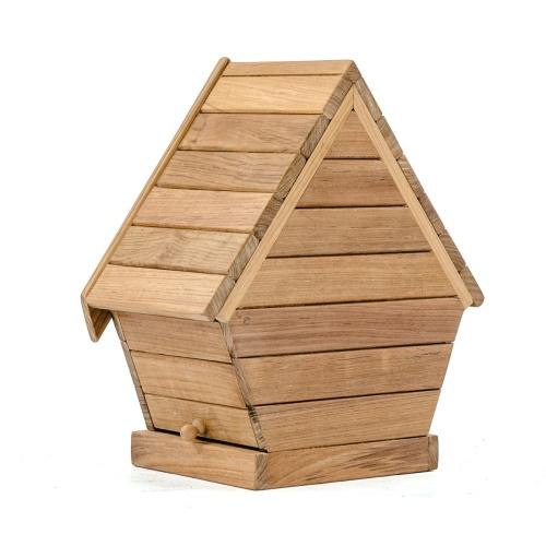 westminster teak birdhouse