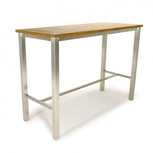 wooden teak bar height tables