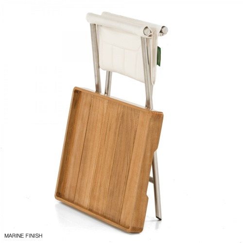 Teak Wood Stainless Folding Tray With Stand