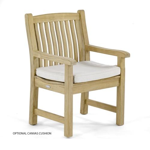 retro teak wood dining chairs