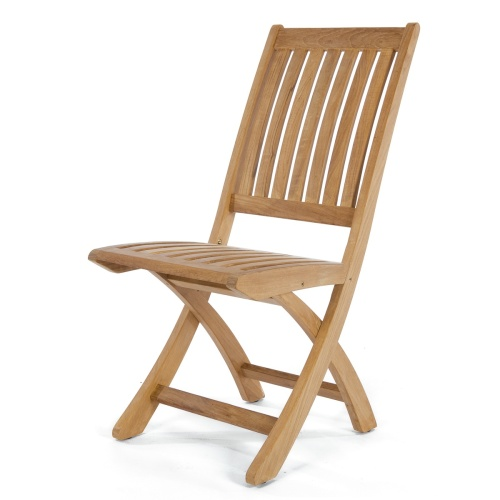 teak folding side chair