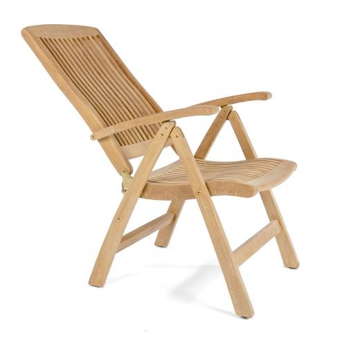 Folding Teak Recliner Chair