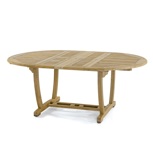 oval teak dining table