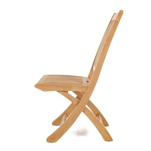 chic teak folding side chair