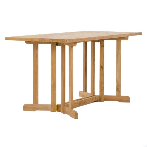 teak modern folding wooden table