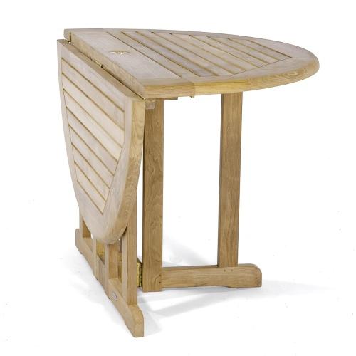 barbuda teak folding 4ft dia round table