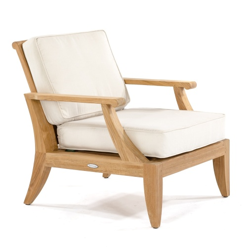 good quality outdoor deep seating wooden armchair