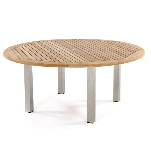 round outdoor table for dining