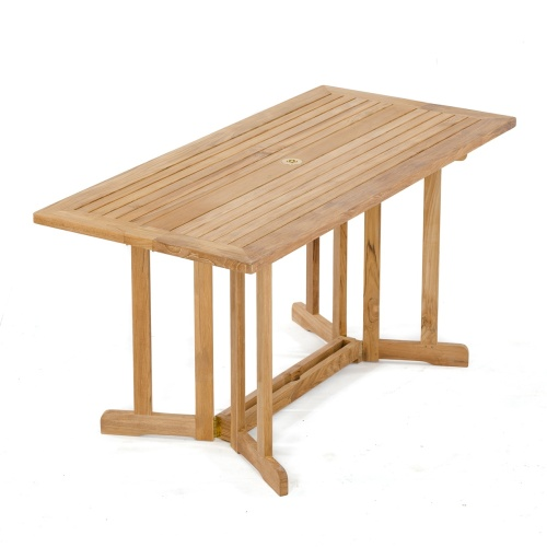 outdoor teak drop leaf table
