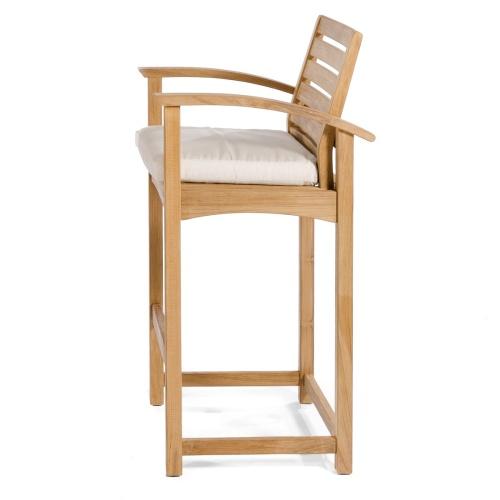 teak outdoor patio bar stool