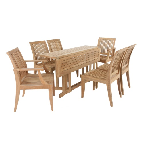teak patio dining set