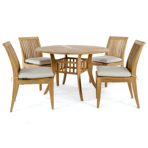 5 piece teak outdoor dining set