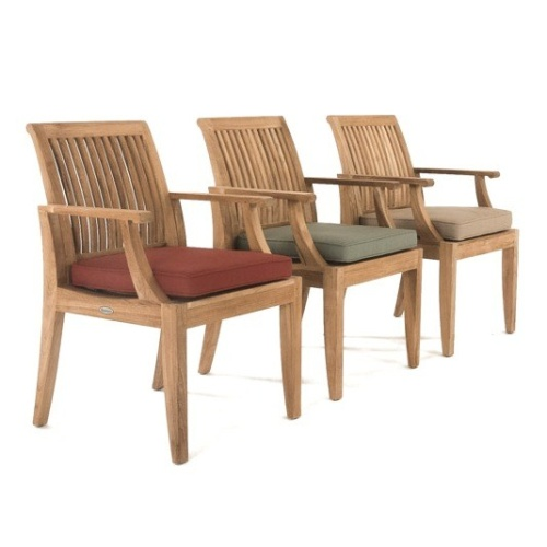 teak deck chairs with cushions