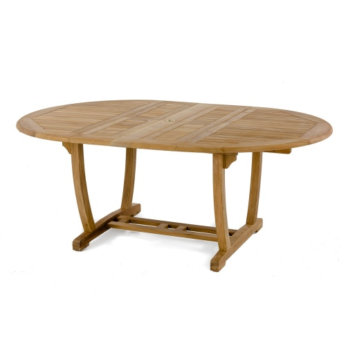 oval teak table for dining outdoors