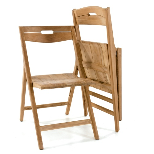 lightweight folding sidechairs teak