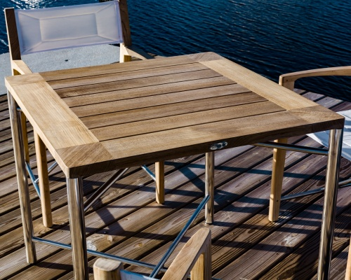 teak patio furniture oceanic teak folding table