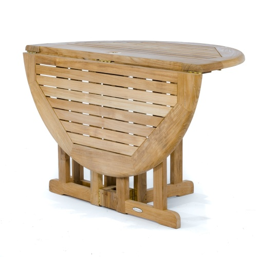 drop leaf round deck table