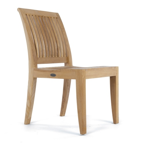 contoured teak side chair