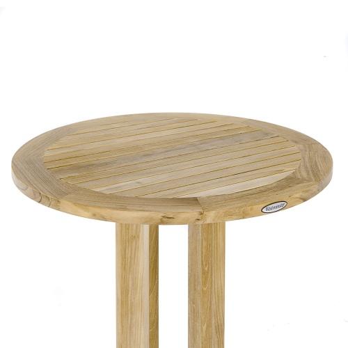 teakwood round table outdoor patio