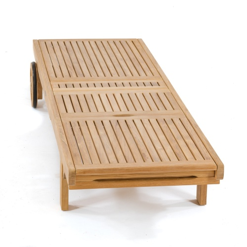 poolside chaise loungers teakwood