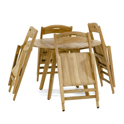 teak dining table round
