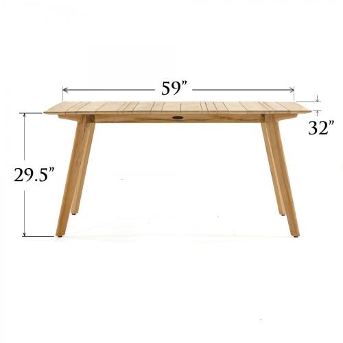 teak dining rectangular table