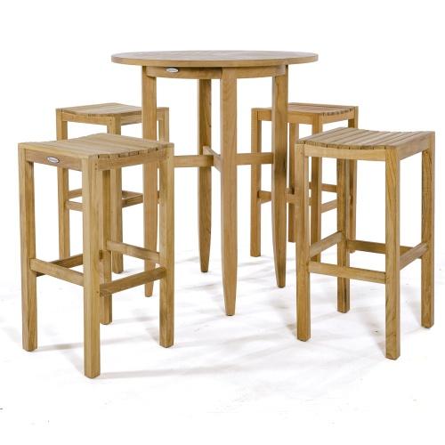 teak backless bar stools