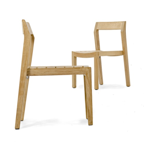 teak side chair without arms