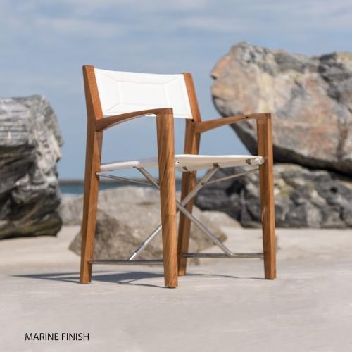 stainless teak patio armchair