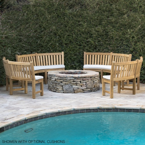 teakwood curved patio furniture