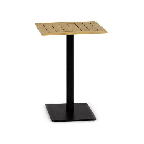 garr black metal table base