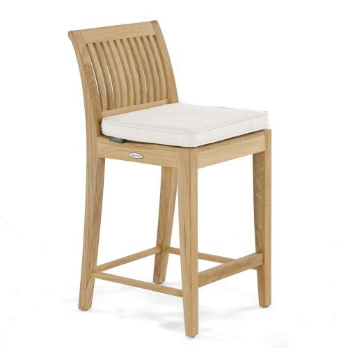 counter stool low back teak