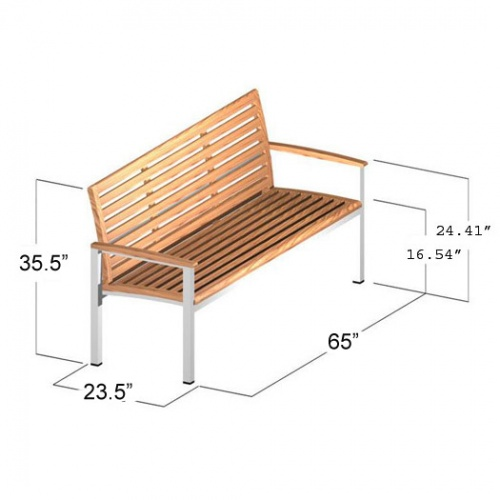 teak stainless steel garden benches with back