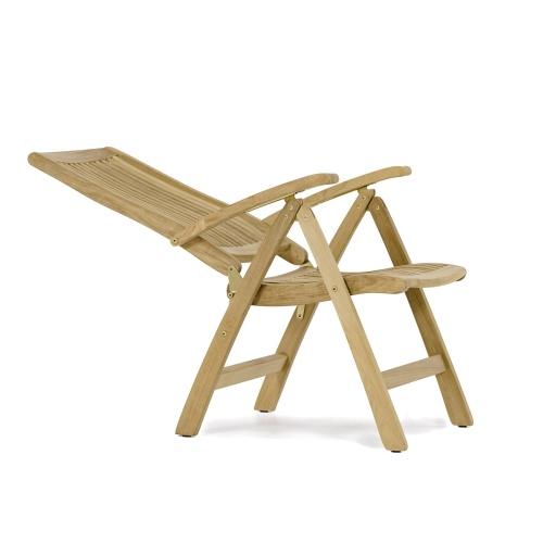 patio teak wood recliner
