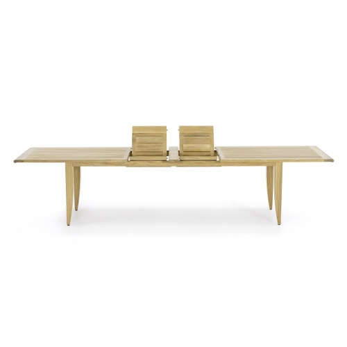 extendable double leaf wooden table