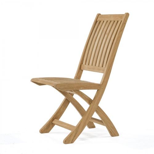 slatted teak outdoor chair