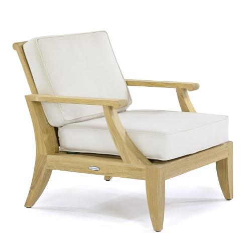 teak deep seating armchair