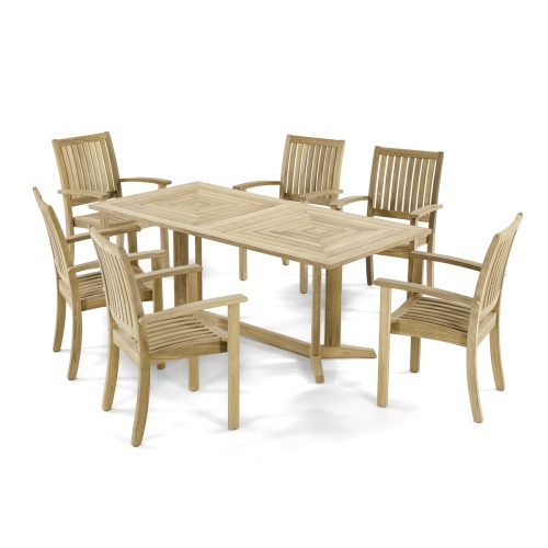 teak wooden stackable chairs