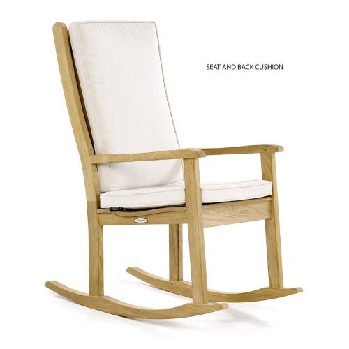 teak chairs rocking outdoor