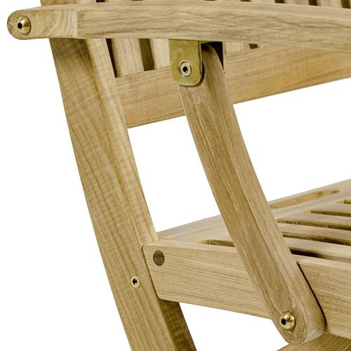 boat teak chair folding