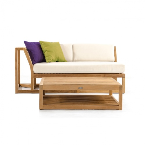 Teak Sectional With Cushions
