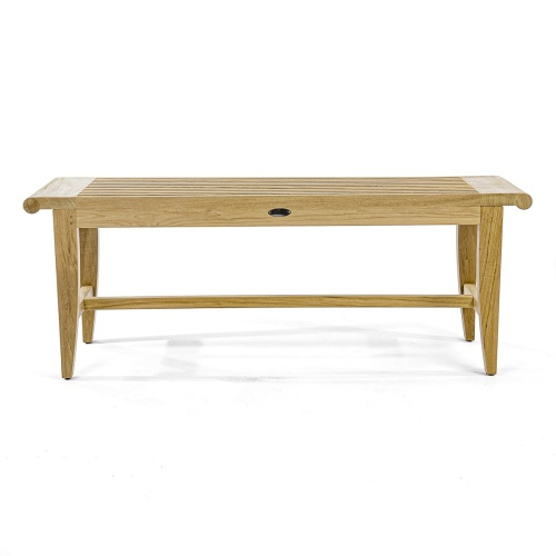 modern teakwood outdoor backless benches
