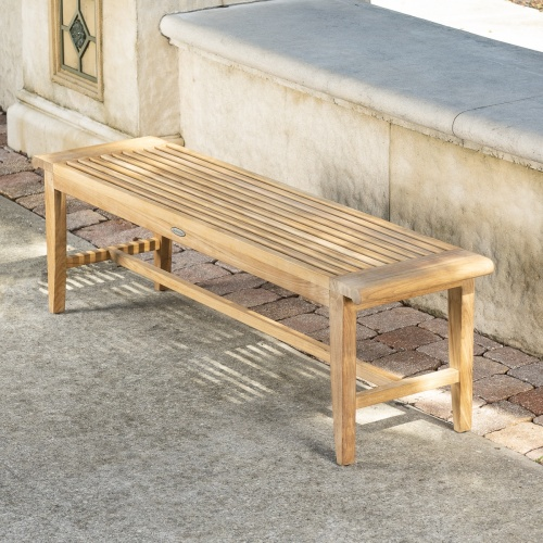 Hallway Teak Backless Benches