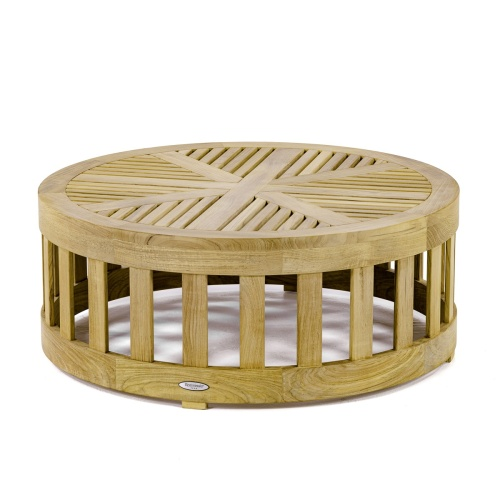 teak round coffee table outdoor