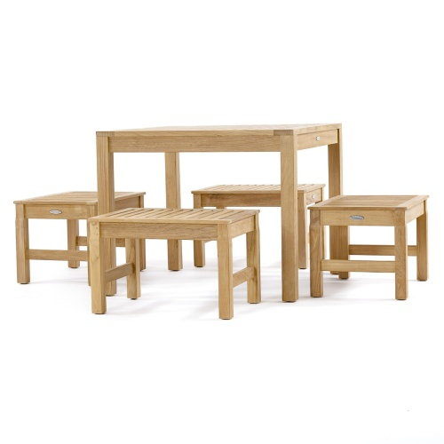 Teak Square Table Set