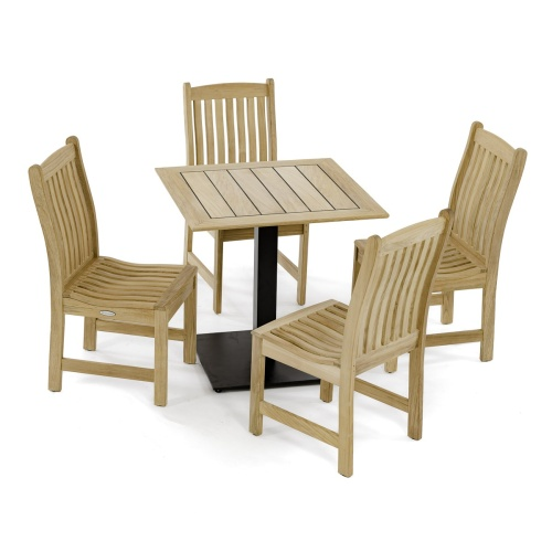 french cafe teak set for 4