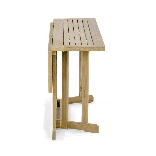 teak marine folding table