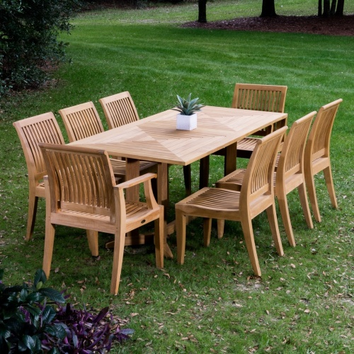 Outdoor 9 Piece Teak Set